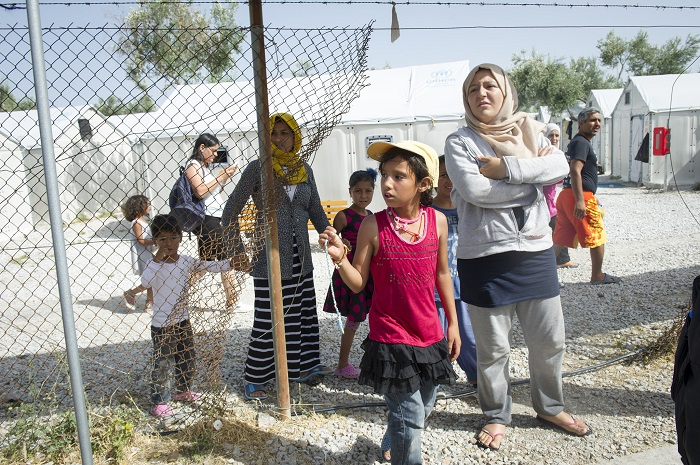 Kara Tepe refugee camp, Lesbos Island, Greece